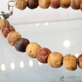 aquamarine and cristal bracelet. made in Laguiole aveyron