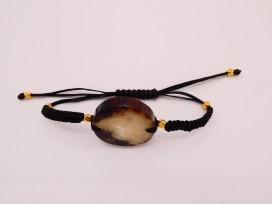 Bracelet macramé corne